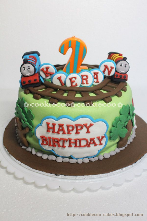 Phenomenal Thomas And Friends Cakes Cookiecoo Thomas And Friends Cake For Funny Birthday Cards Online Overcheapnameinfo