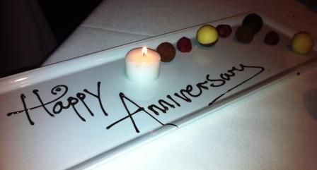 River Restaurant, Lowry Hotel, Manchester Perfect pud & exceptional service!