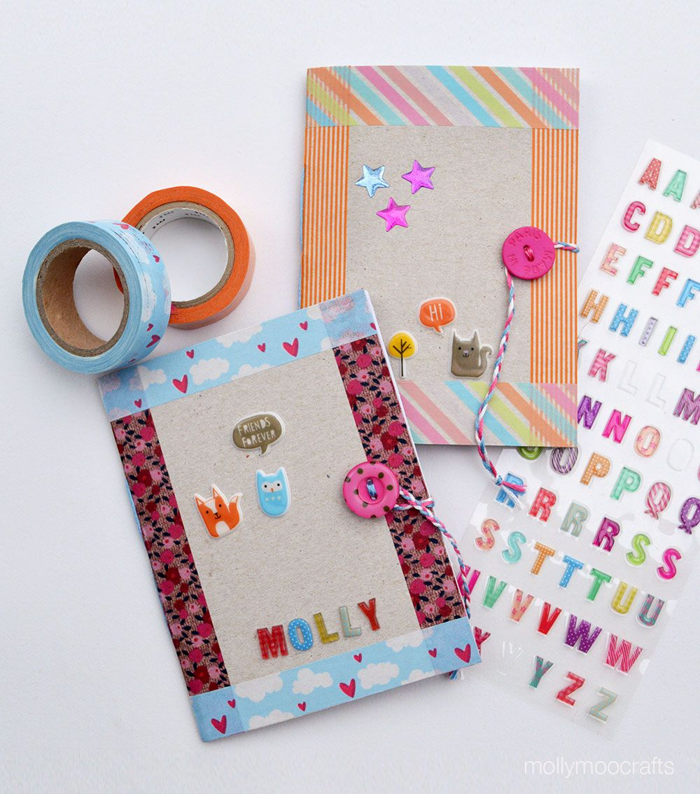Diy cereal box notebook cereal box and craft diy cereal box notebooks for kids ccuart Images