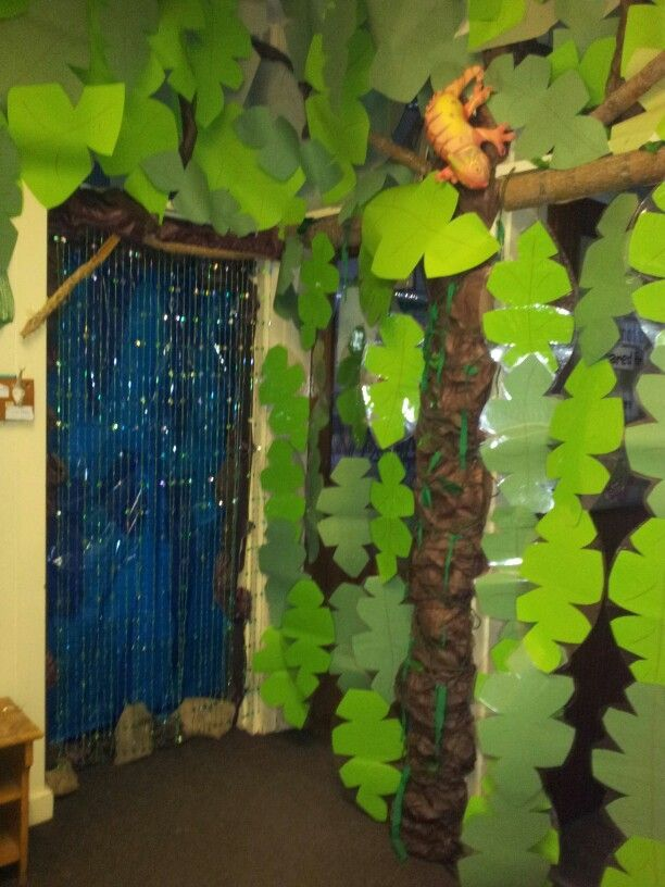 Spent the last day of christmas hols creating a rainforest outside my classroom door to welcome the children back to their new topic next week! & Where are the dinosaurs? Dinosaur classroom door | Second Grade ... Pezcame.Com