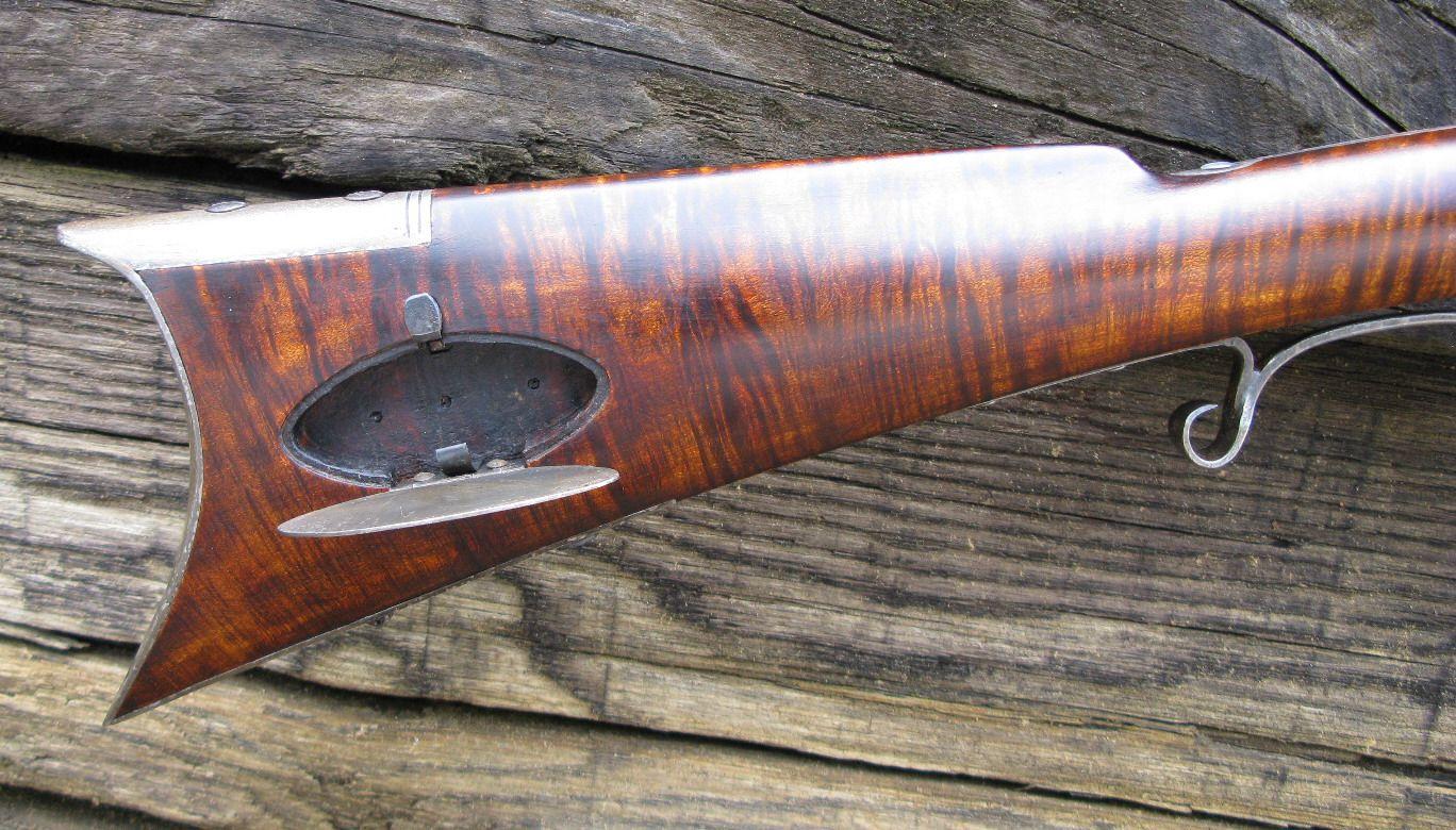 Tennessee Mountain Rifle custom made by D K  Lisle  Stump Cut Curly
