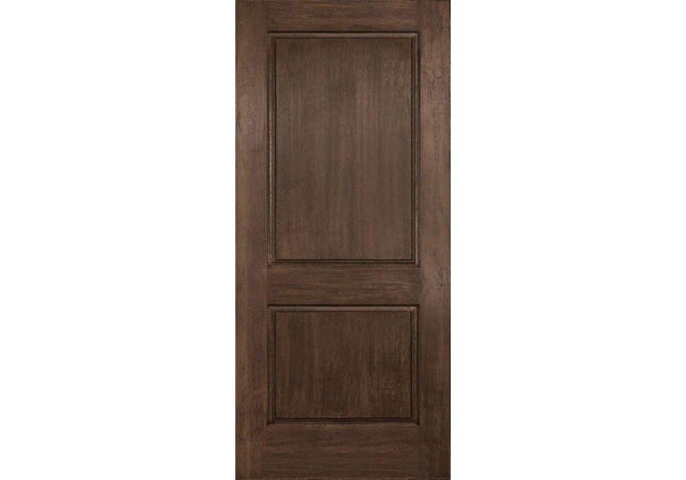Dra2b Clayton Plastpro Rustic Two Panel Square Top Door 1 3 4 Rustic Doors Paneling Doors