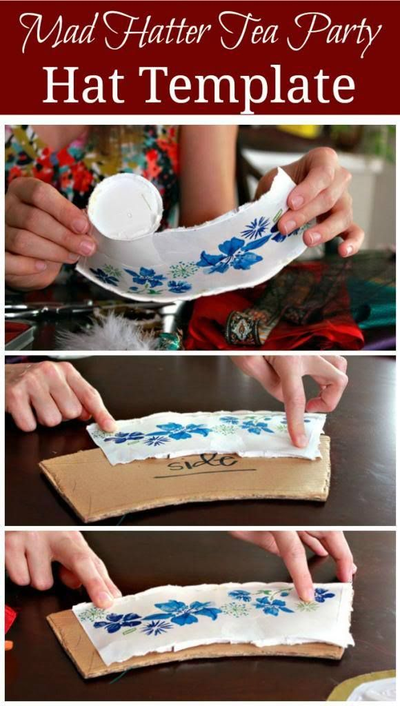Mad hatter tea party hat tutorial hat tutorial tea - Mad hatter tea party decoration ideas ...