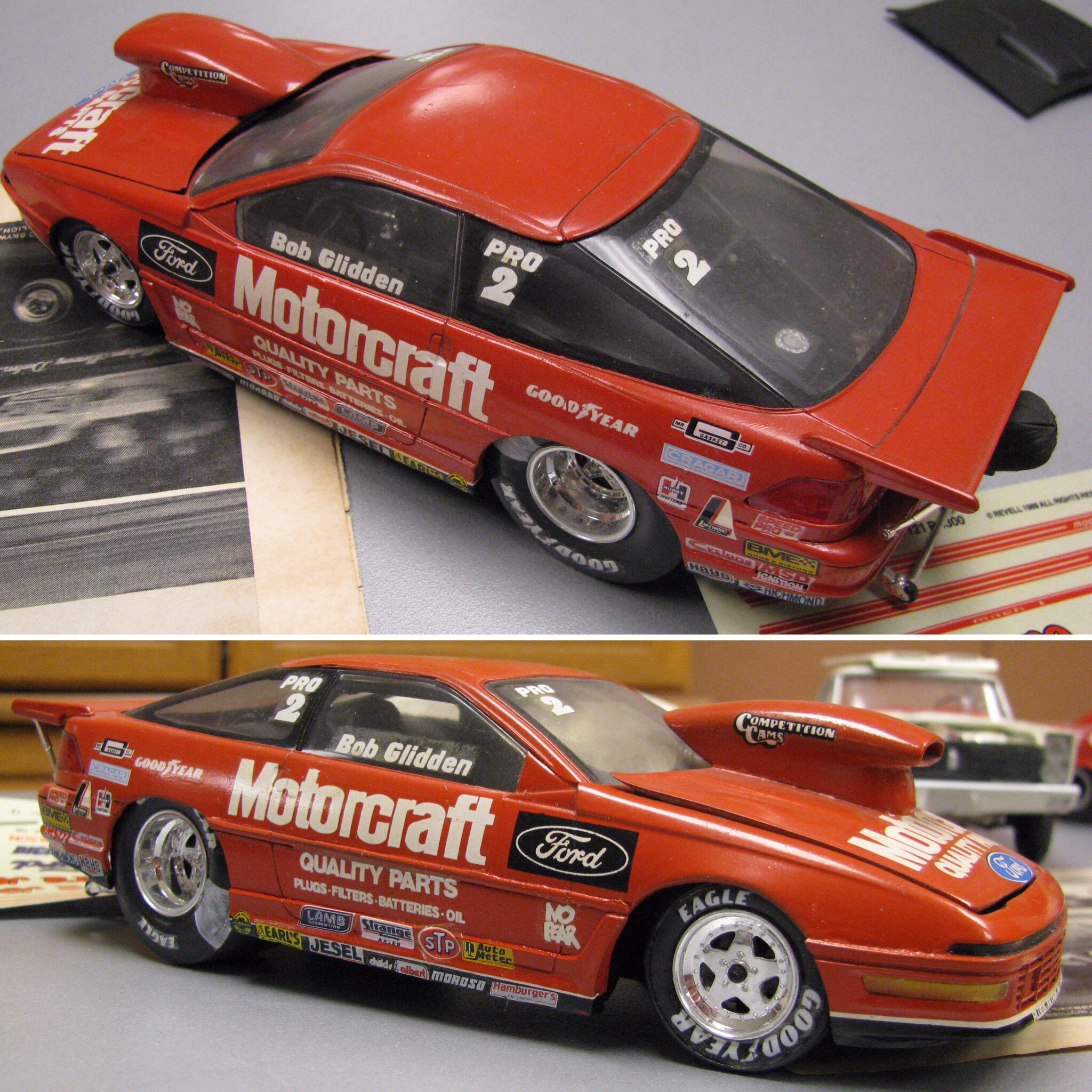 Bob Glidden Pro Stock Ford Probe Scale Model From The December