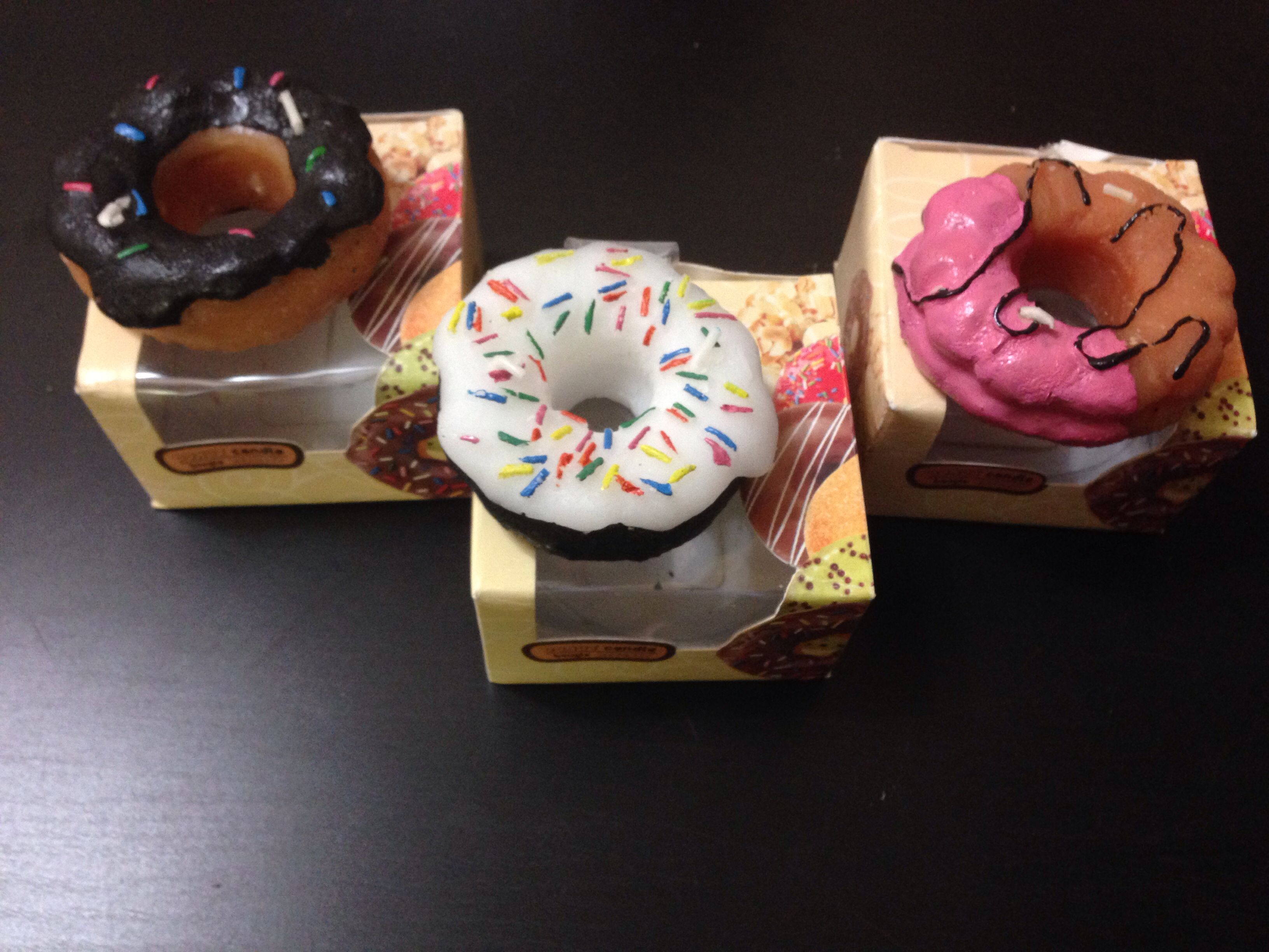 Found These Donut Candles At Dollar Tree Party Doughnuts Birthday