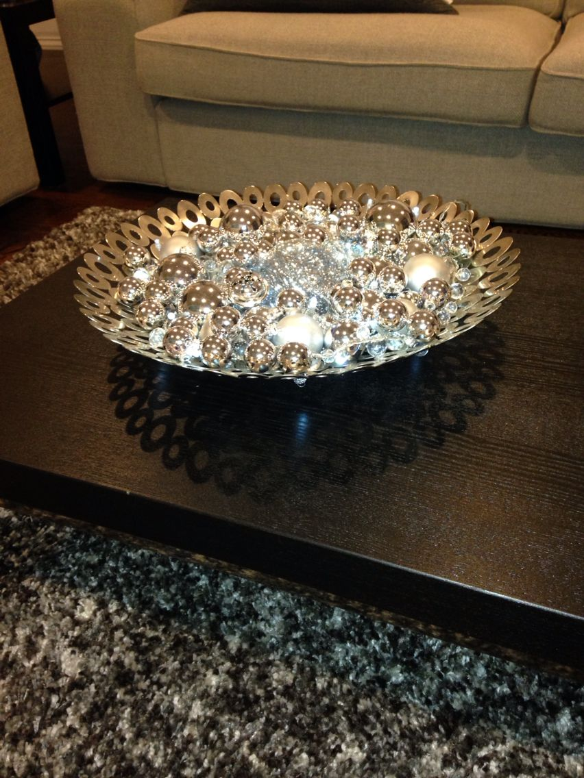 Christmas Decorations For Your Coffee Table Bowl Of Different