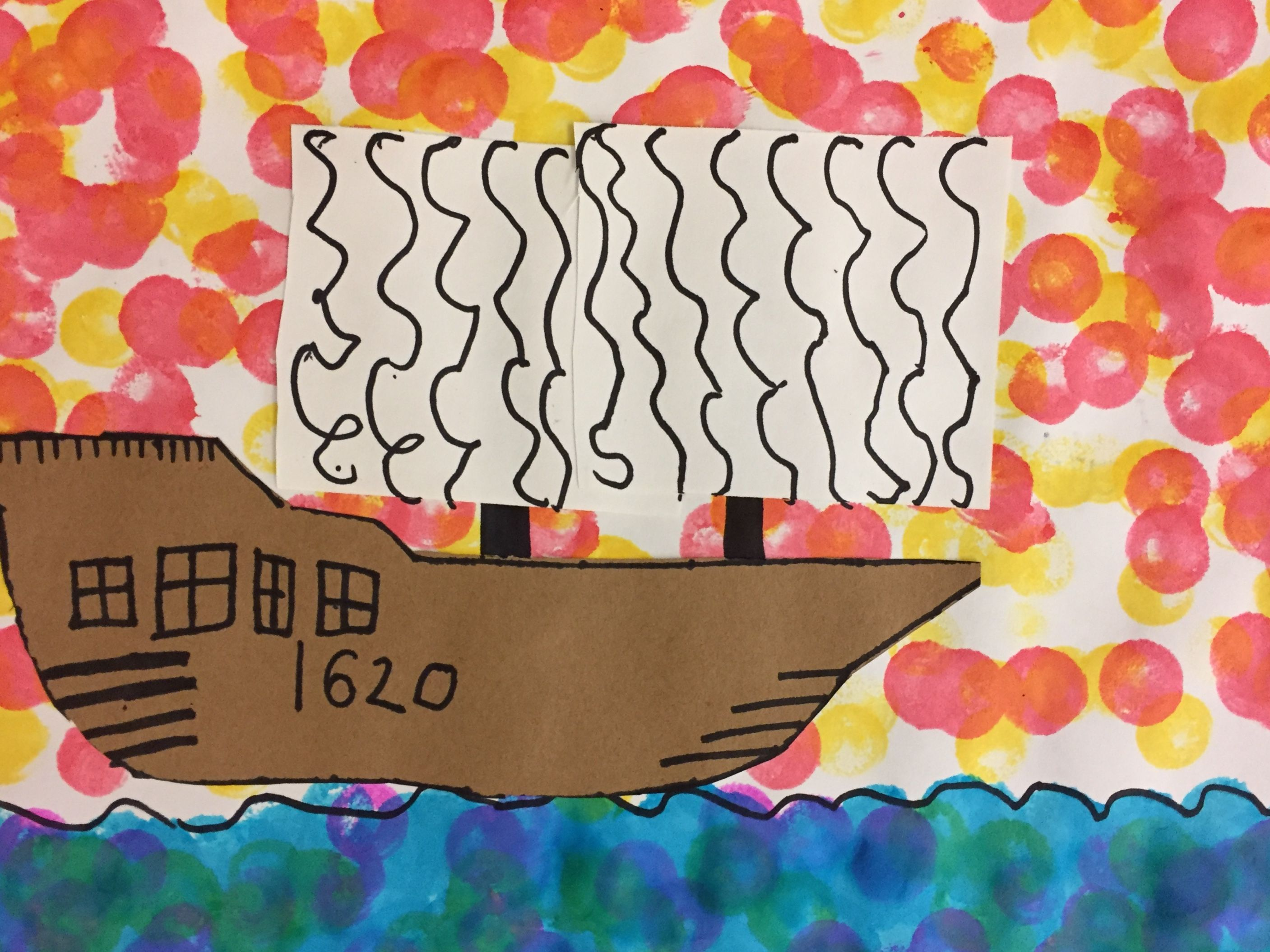 Students In First Grade Had Fun Creating S Seascape To