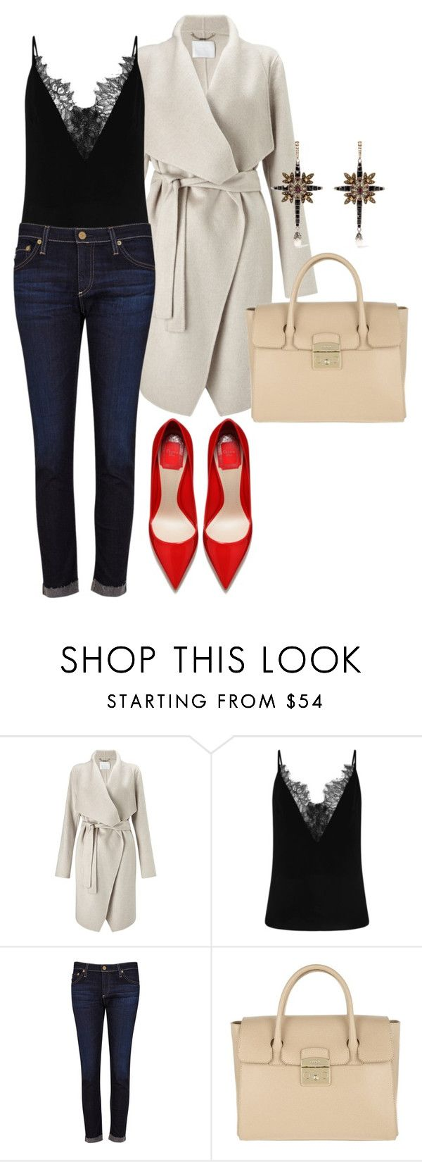 """""""#594"""" by tubbie ❤ liked on Polyvore featuring Finesse, AG Adriano Goldschmied, Furla and Alexander McQueen"""