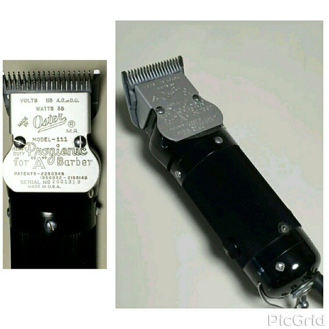 Oster Progienic Model 111 Vintage Barber Barber Barber Life
