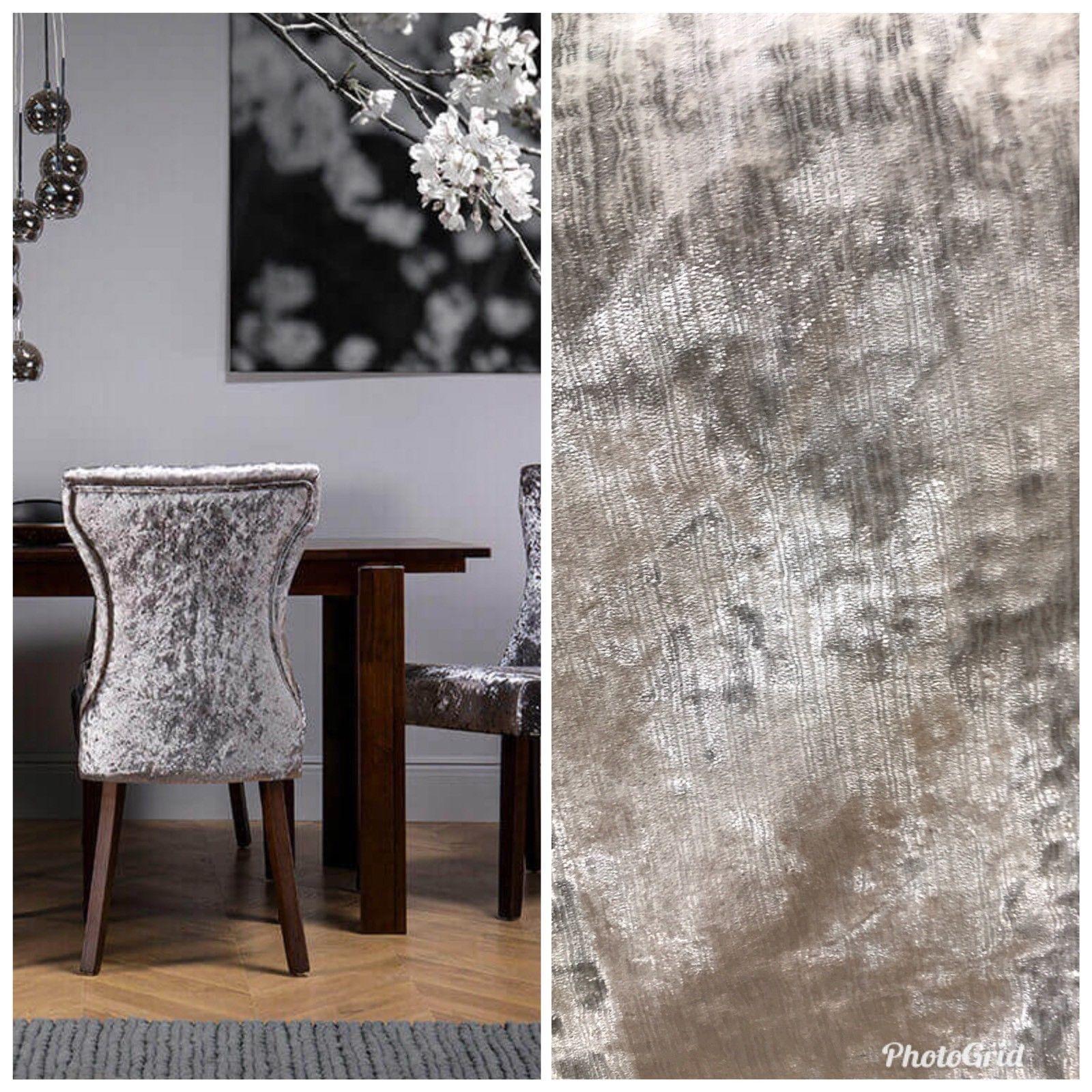 Designer Italian Crushed Velvet Chenille Upholstery Fabric