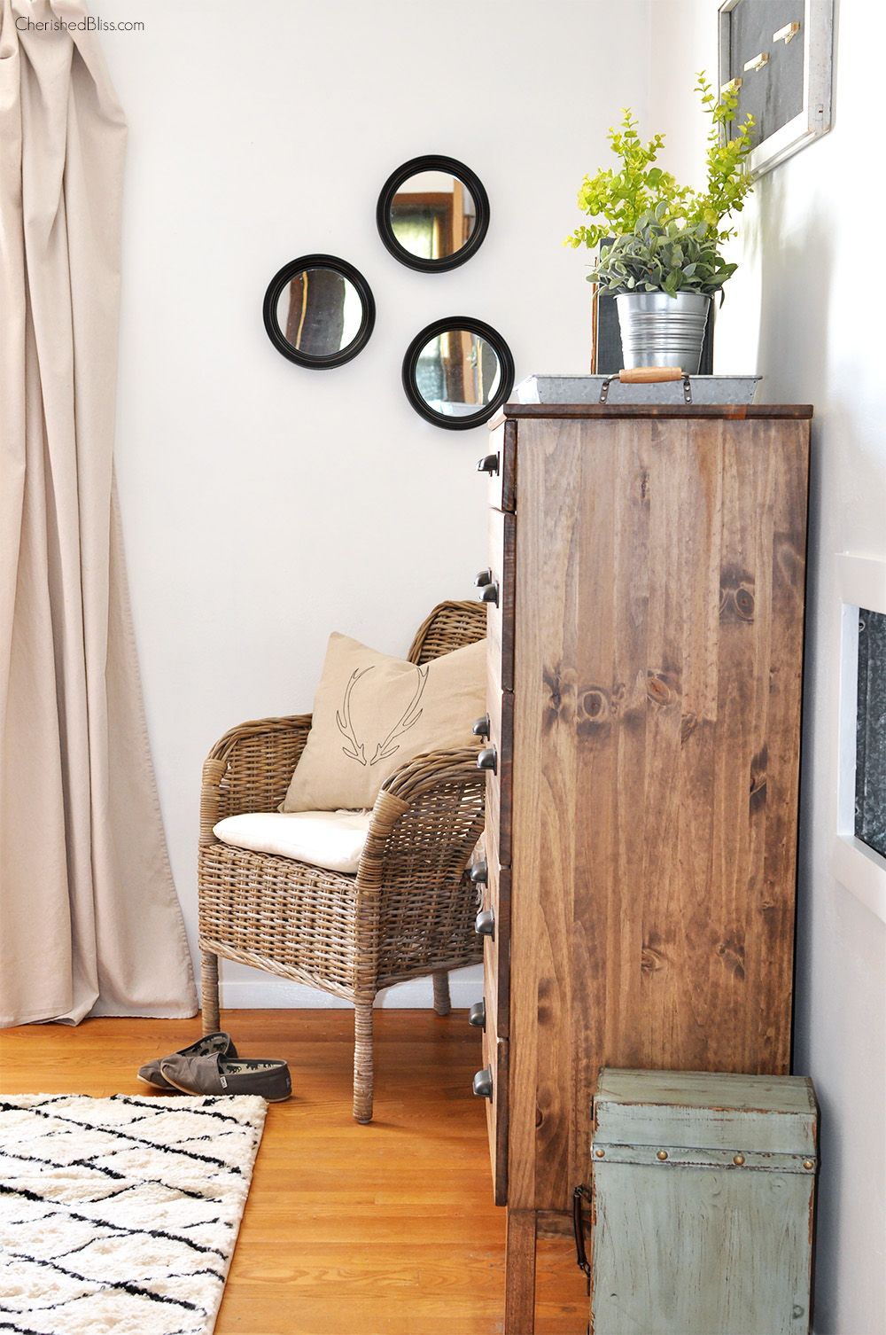 Rustic Industrial Master Bedroom Reveal Rustic master