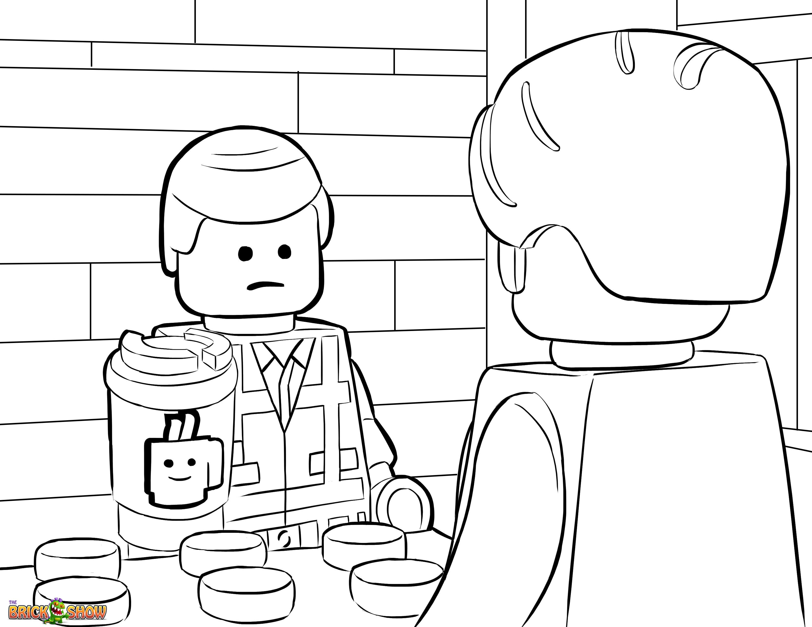 The LEGO Movie Coloring Page, LEGO Emmet Orders $37 Coffee from ...