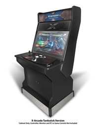 32 Upright Xtension Arcade Cabinet For The X Tankstick Gaming Console At Recroom Masters