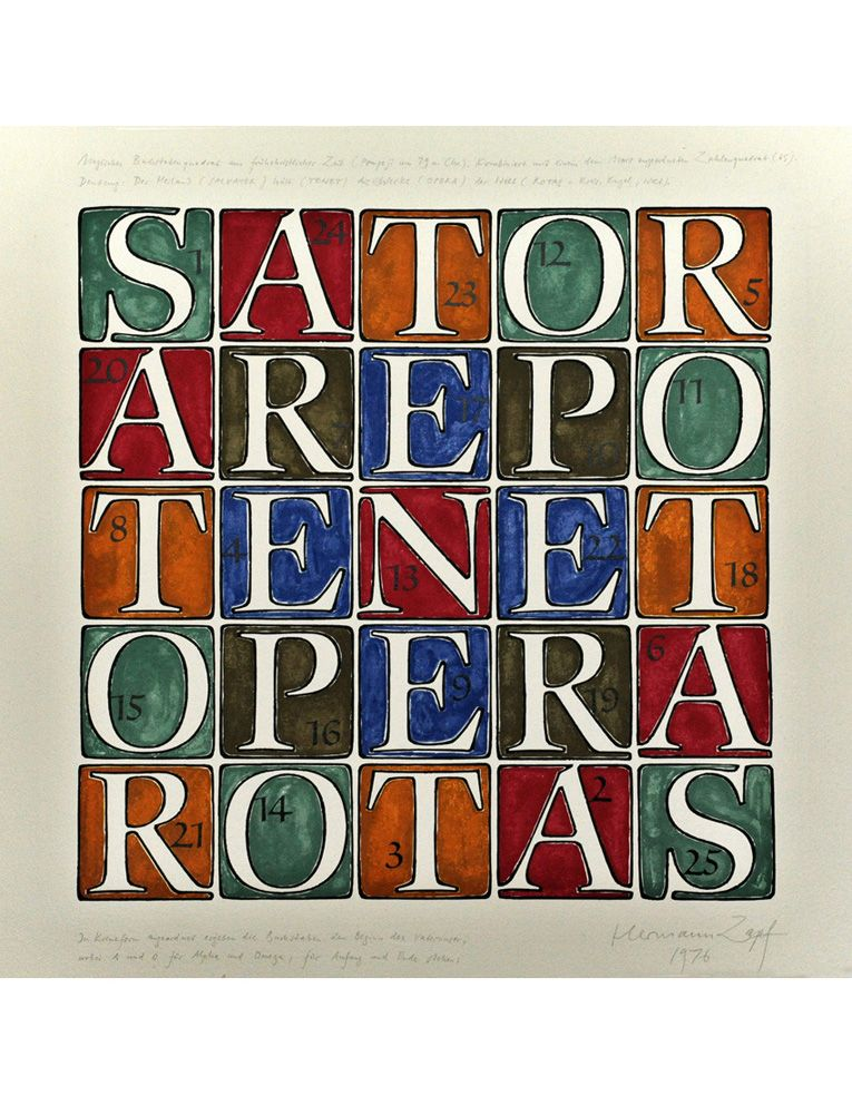 Hermann Zapf, Sartor Square, 1976. Drawing. Germany. The influential font designer and creator of beautiful letters died some days ago, age 96.
