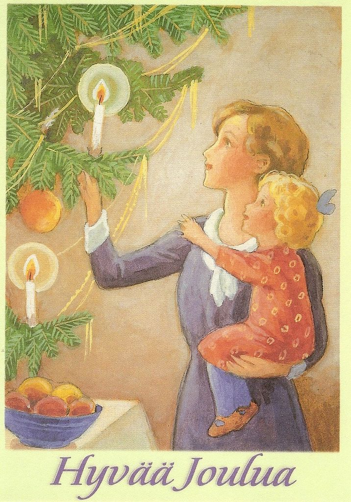a postcard by Rudolf Koivu.  published by Suomen Lastenklinikoiden kummit ry.  (c) Amerin kulttuurisäätiö. Printed by Paletti.