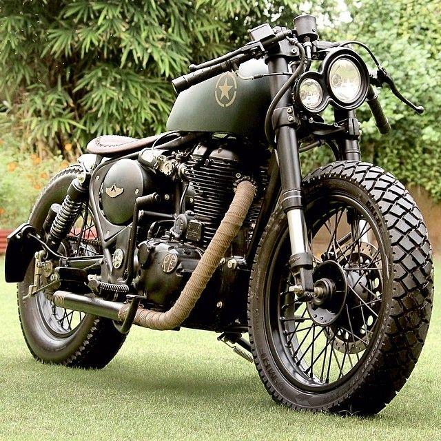 Green Royal Enfield 500 Royal Enfield Custom Motorcycles Enfield Classic