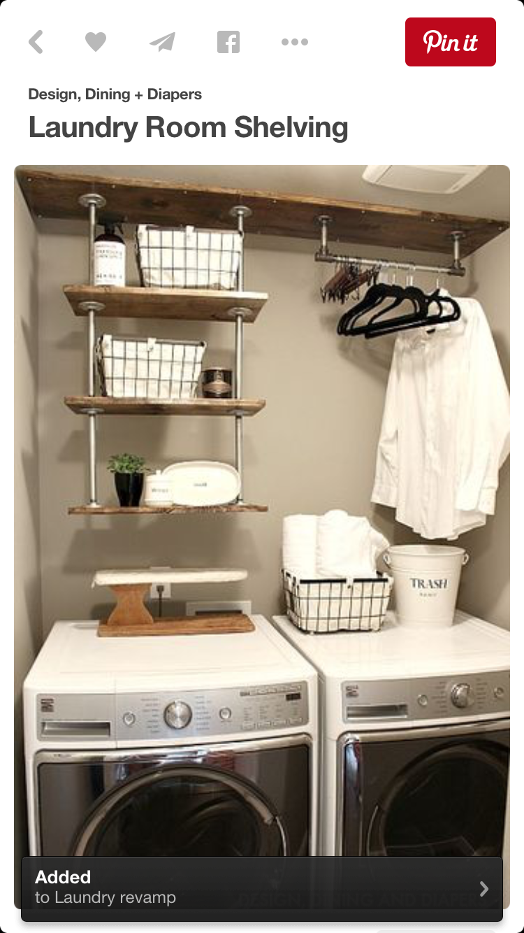 Add Shower Rod To Hang Clothes Tiny Laundry Rooms Small Laundry
