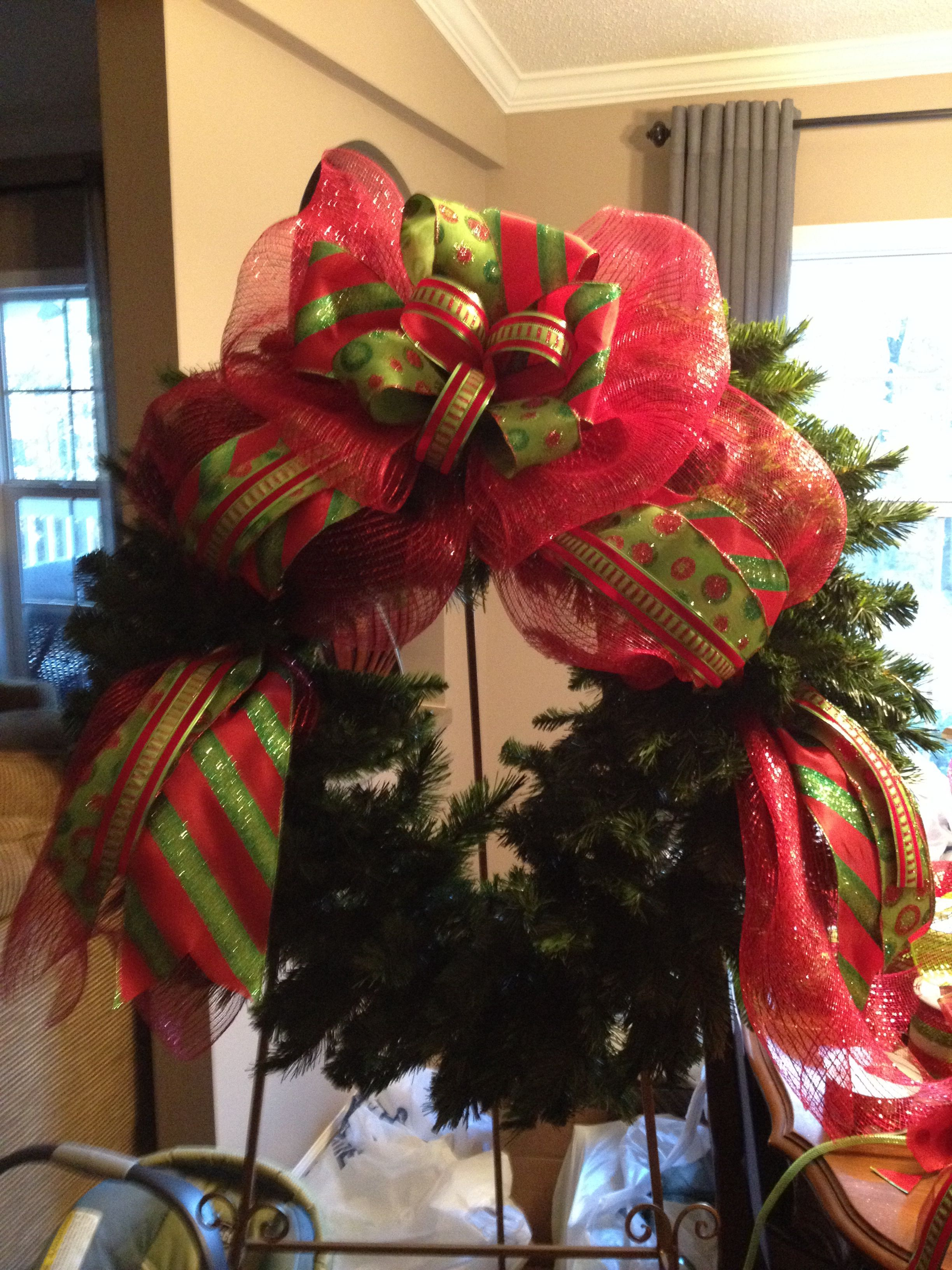 Mesh wreath for my booth Wreaths Pinterest