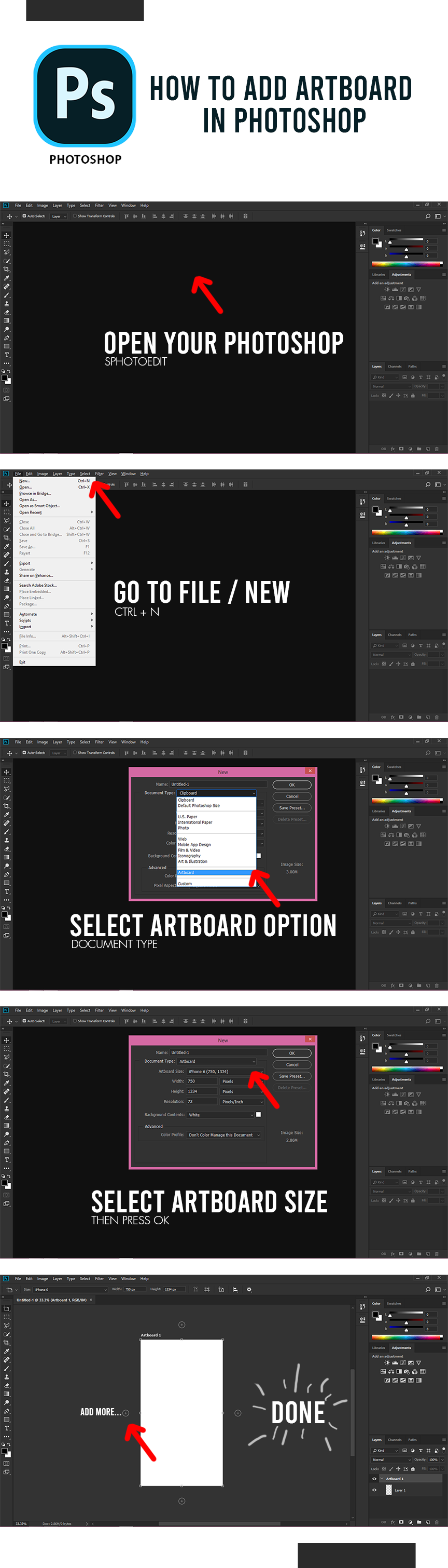 How To Add Artboard In Adobe Photoshop In 2020 Photoshop Learning Graphic Design Learn Photoshop