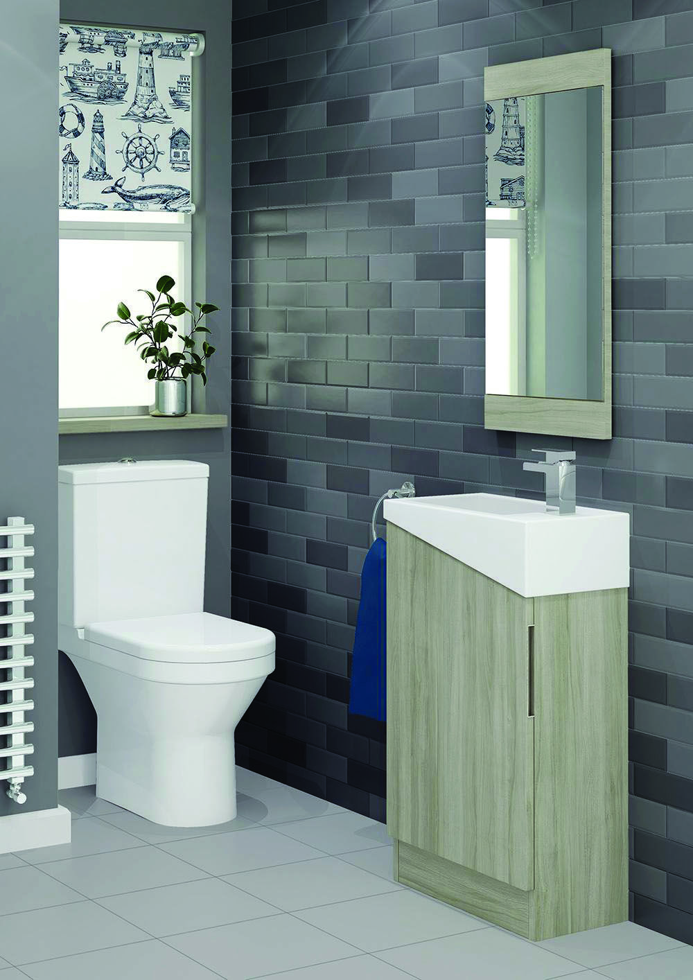 Homeeideas Com Modular Bathrooms Bathroom Units Cloakroom Vanity Unit