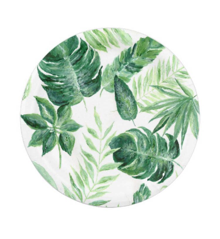 A personal favorite from my Etsy shop //.etsy.com. Tropical LeavesTropical PartyPalm Leaf PlatesPaper ...  sc 1 st  Pinterest & A personal favorite from my Etsy shop https://www.etsy.com/listing ...