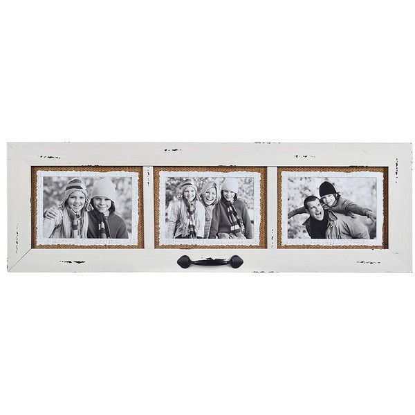 Cream 3-Opening Window Pane Collage Frame ($25) ❤ liked on Polyvore ...