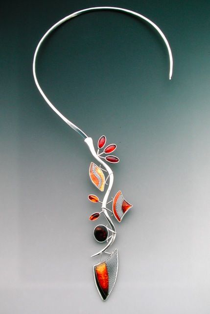 Photo of Necklace |  Lisa Hawthorne | cloisonne enamel – SO cool looking, no idea where I…