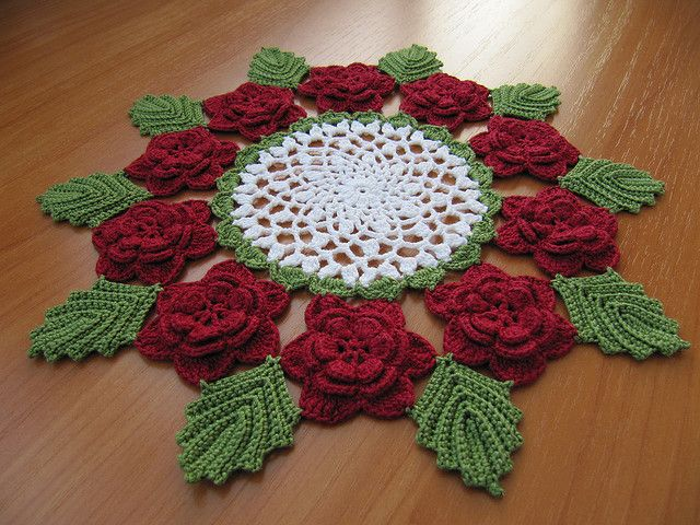 Free Pattern For Victorian Rose Doily Flowers Only Crochet