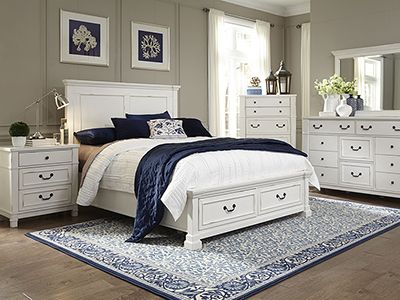 Best Williamson Queen Storage Bed White Bedroom Set Vintage 400 x 300