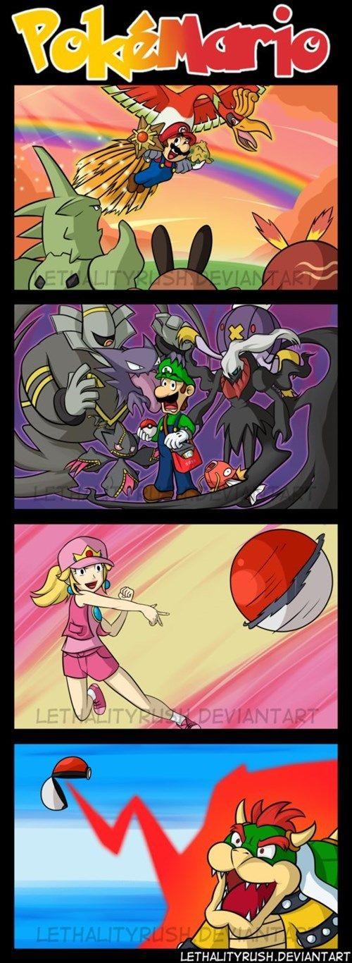 Pokémon Meets Mario