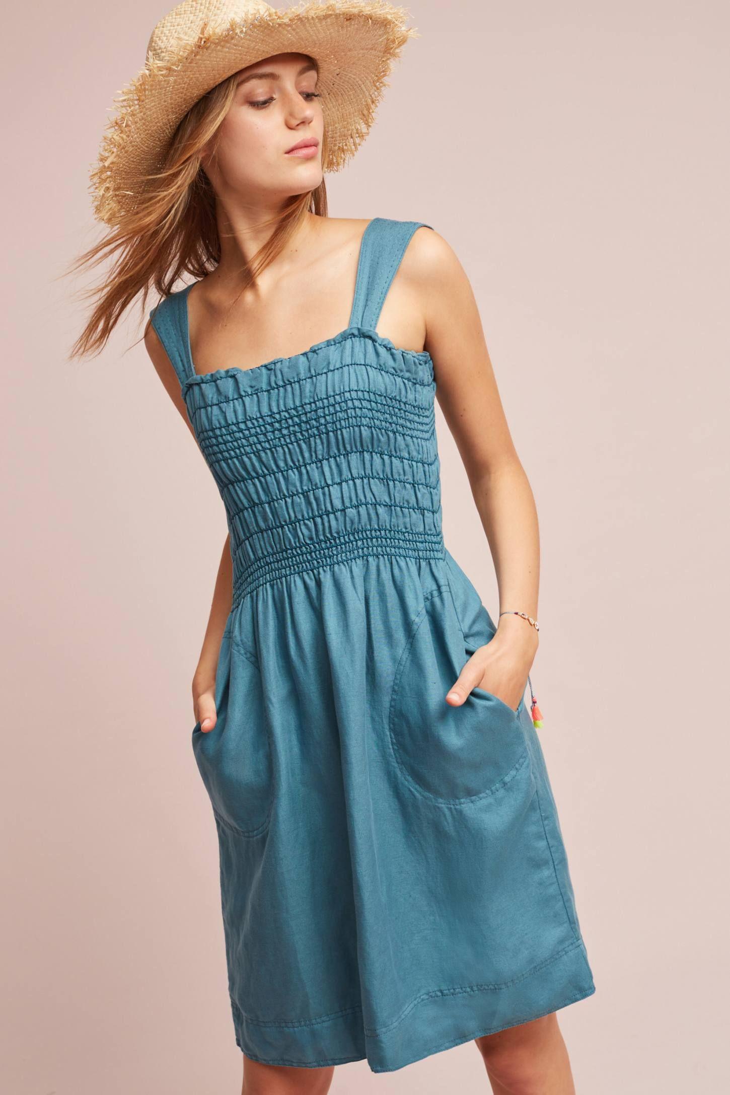 Carlie smocked dress shops models and cas
