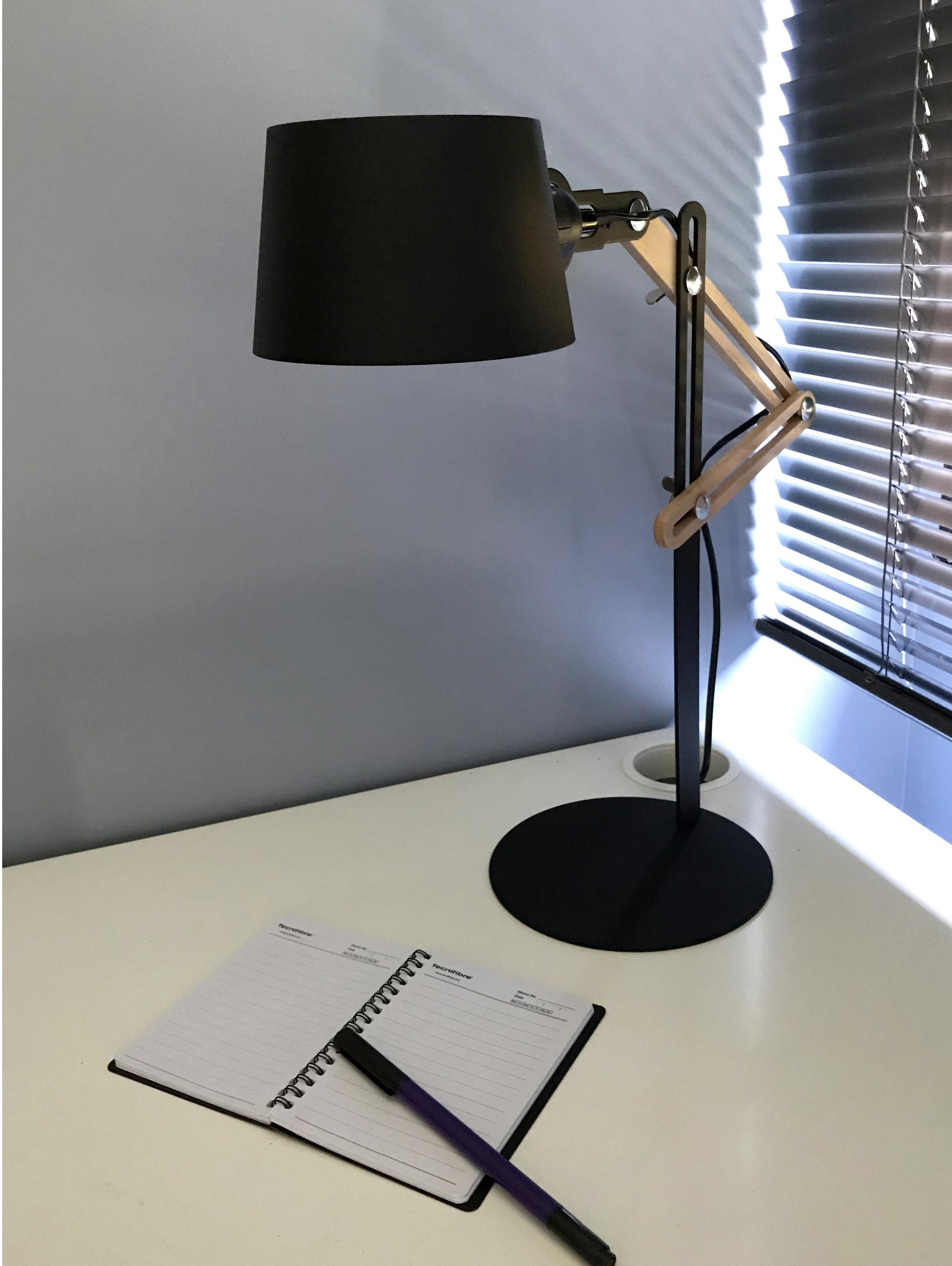 Lampe De Bureau E27 A Poser Noir Study Lampe De Bureau Lampe Bureau