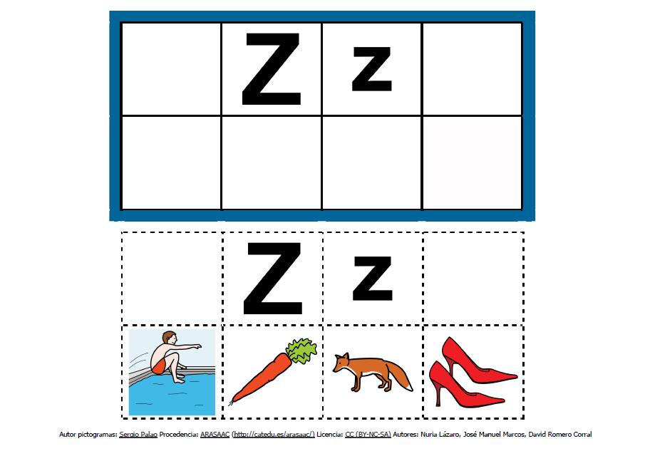 Abecedario con pictogramas: Z http://informaticaparaeducacionespecial.blogspot.com.es/2013/09/abecedario-con-pictogramas-de-arasaac.html