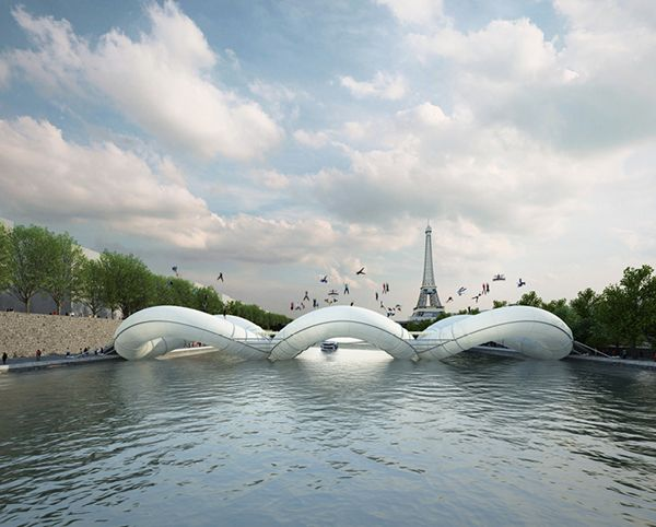 Proposed trampoline bridge, Paris
