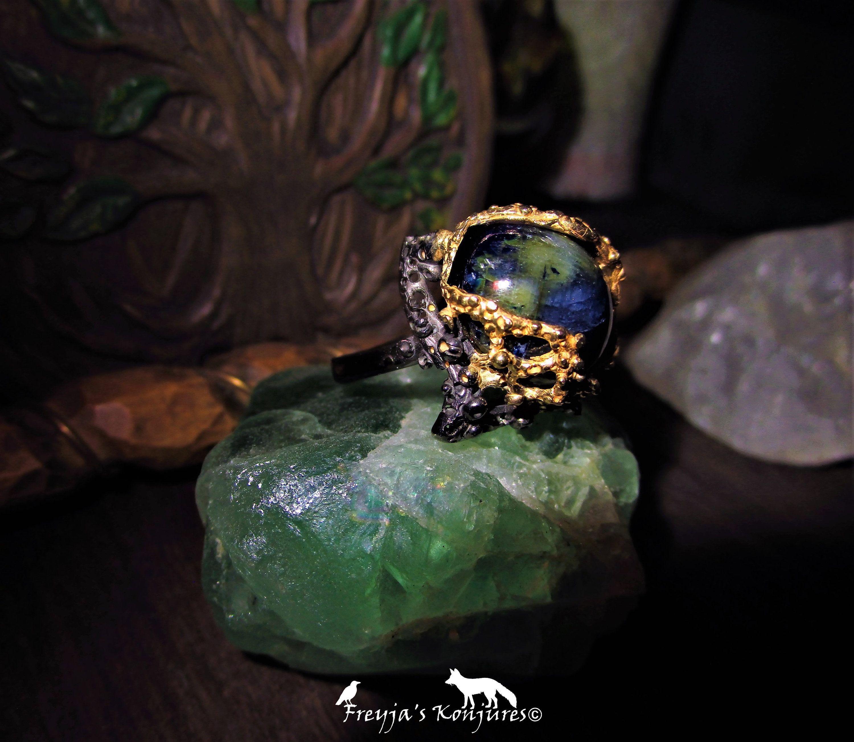 Vivid Blue Sapphire Statement Ring