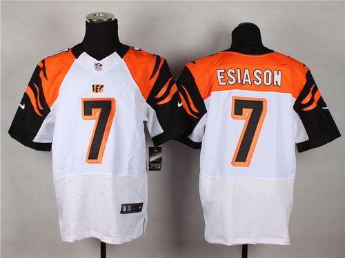 c485c704 Nike Cincinnati Bengals #7 Boomer Esiason White Elite Jersey | NFL ...