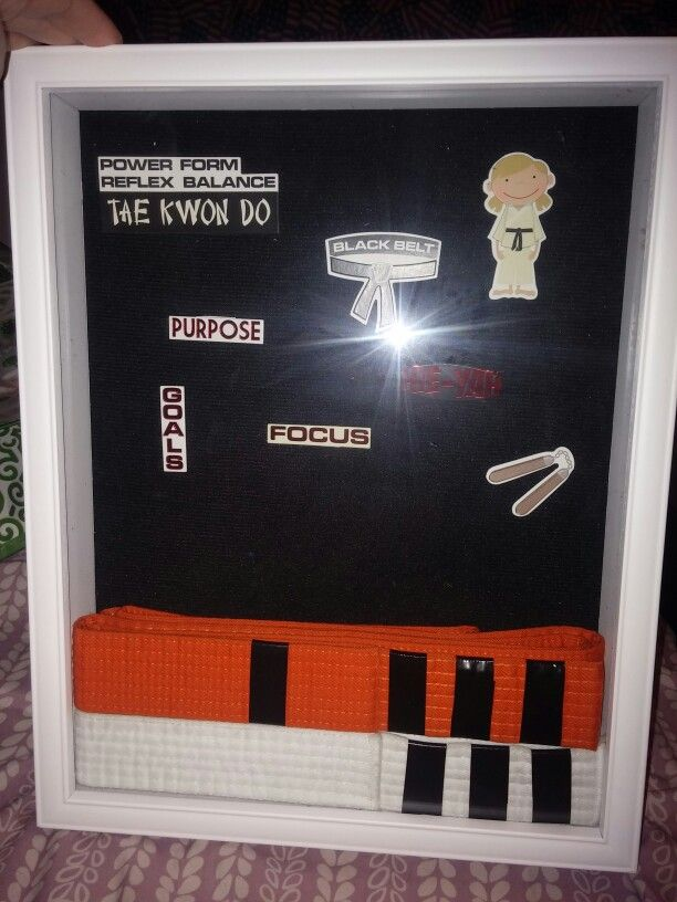Shadow Box From Michaels Used To Display Taekwondo Belts Belt Display Taekwondo Belt Display Karate Belt Display