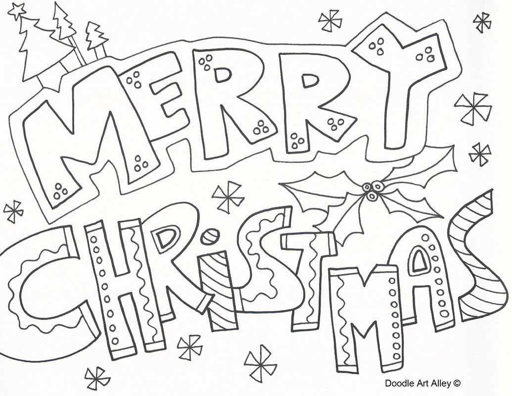 Christmas coloring in pages printable - Merry Christmas Coloring Pages To Download And Print For Free
