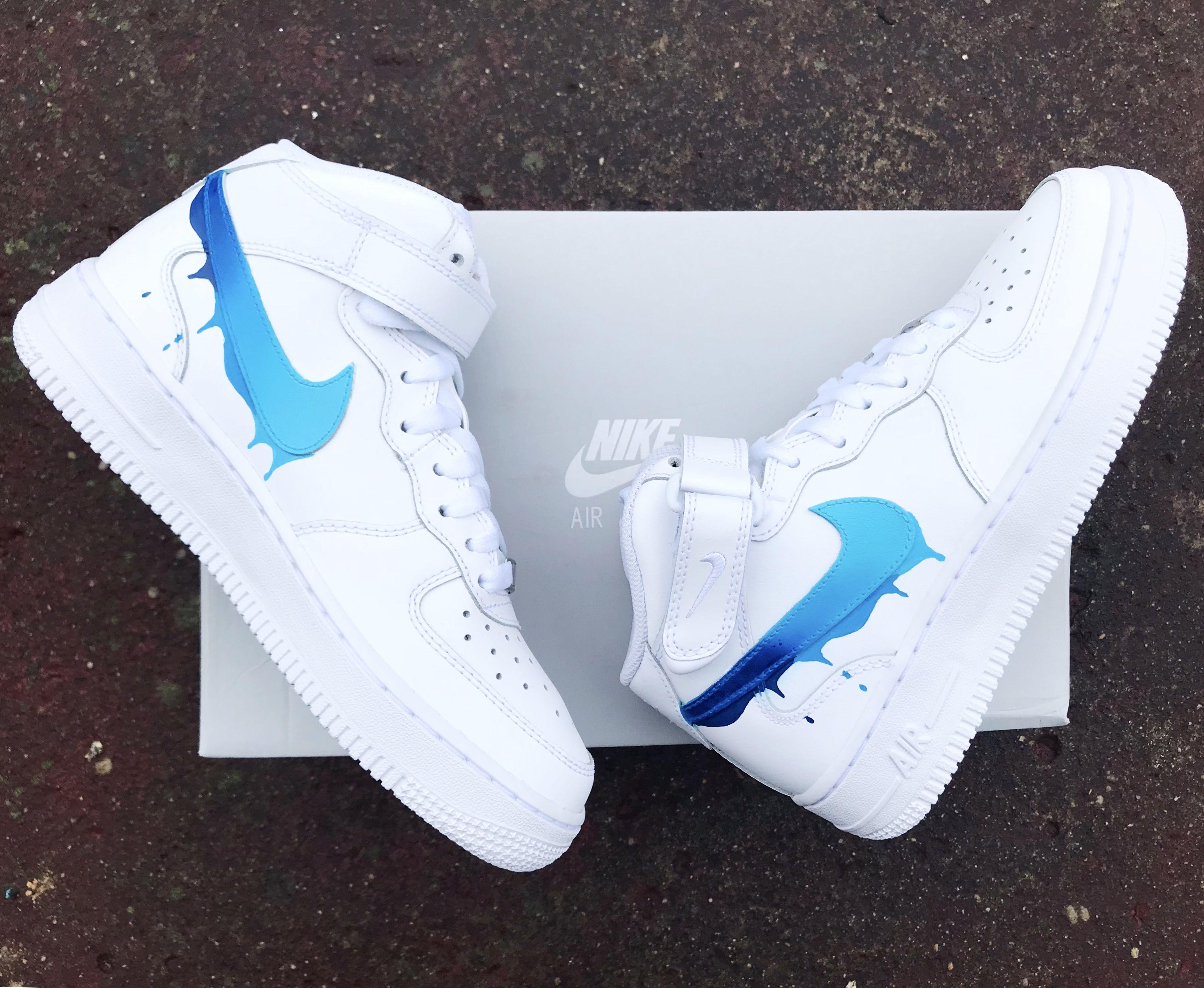 Nike Air Force Drippy | Sneakers fashion, Custom nike shoes