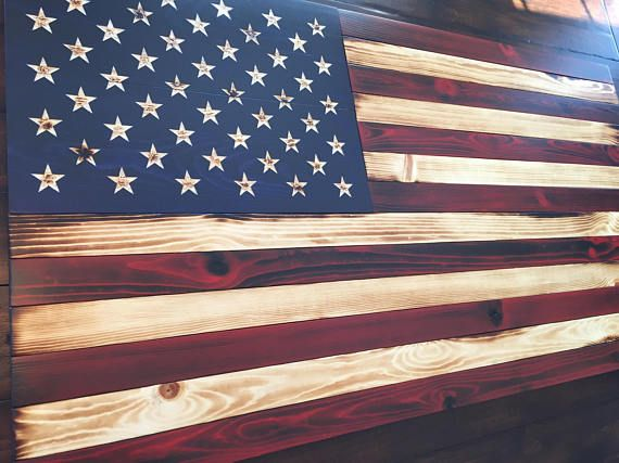 American Flag Large Old Glory Battlefield Rustic Military