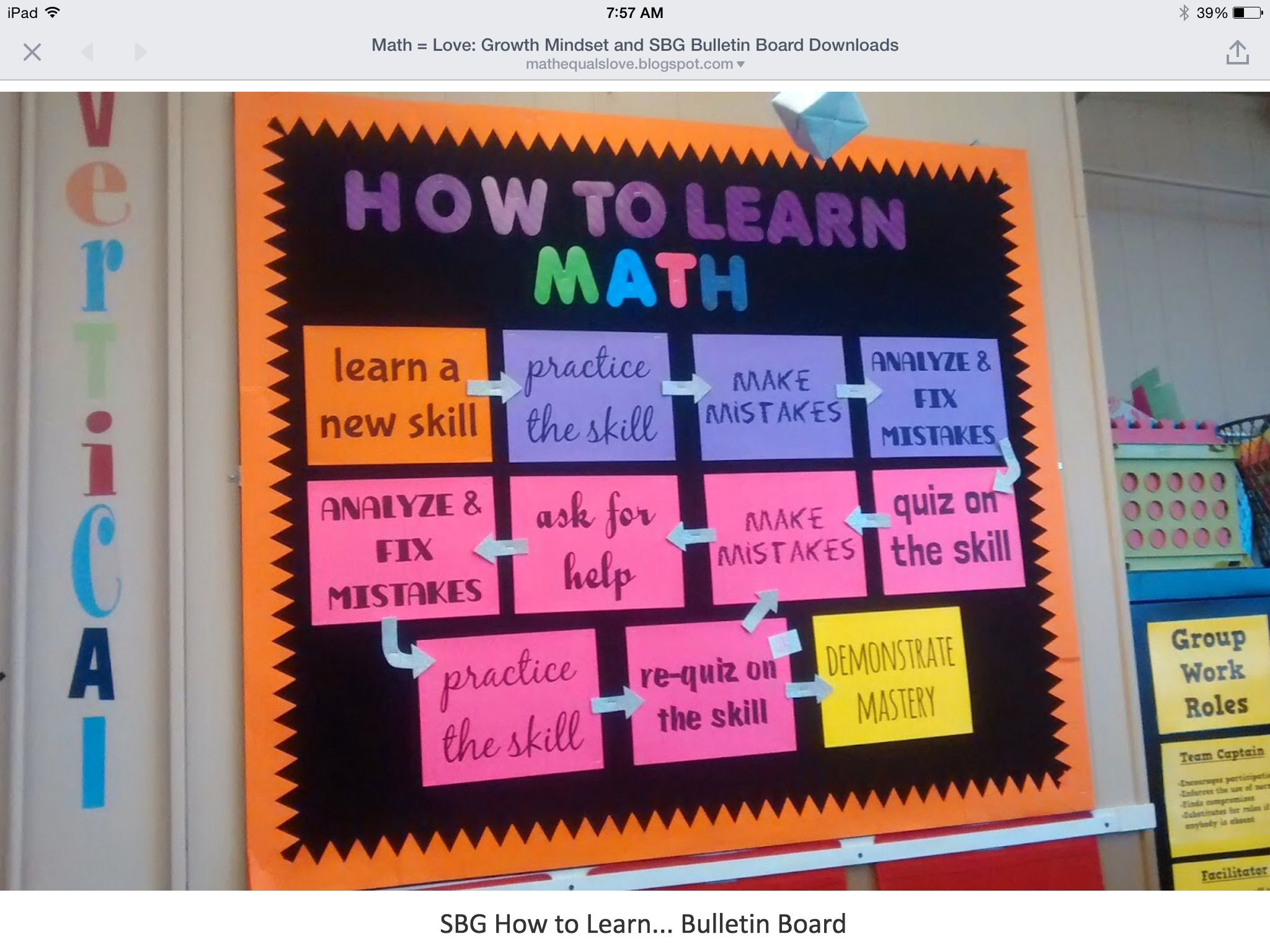 Classroom Decor Math ~ Lots of great ideas math class decor pinterest