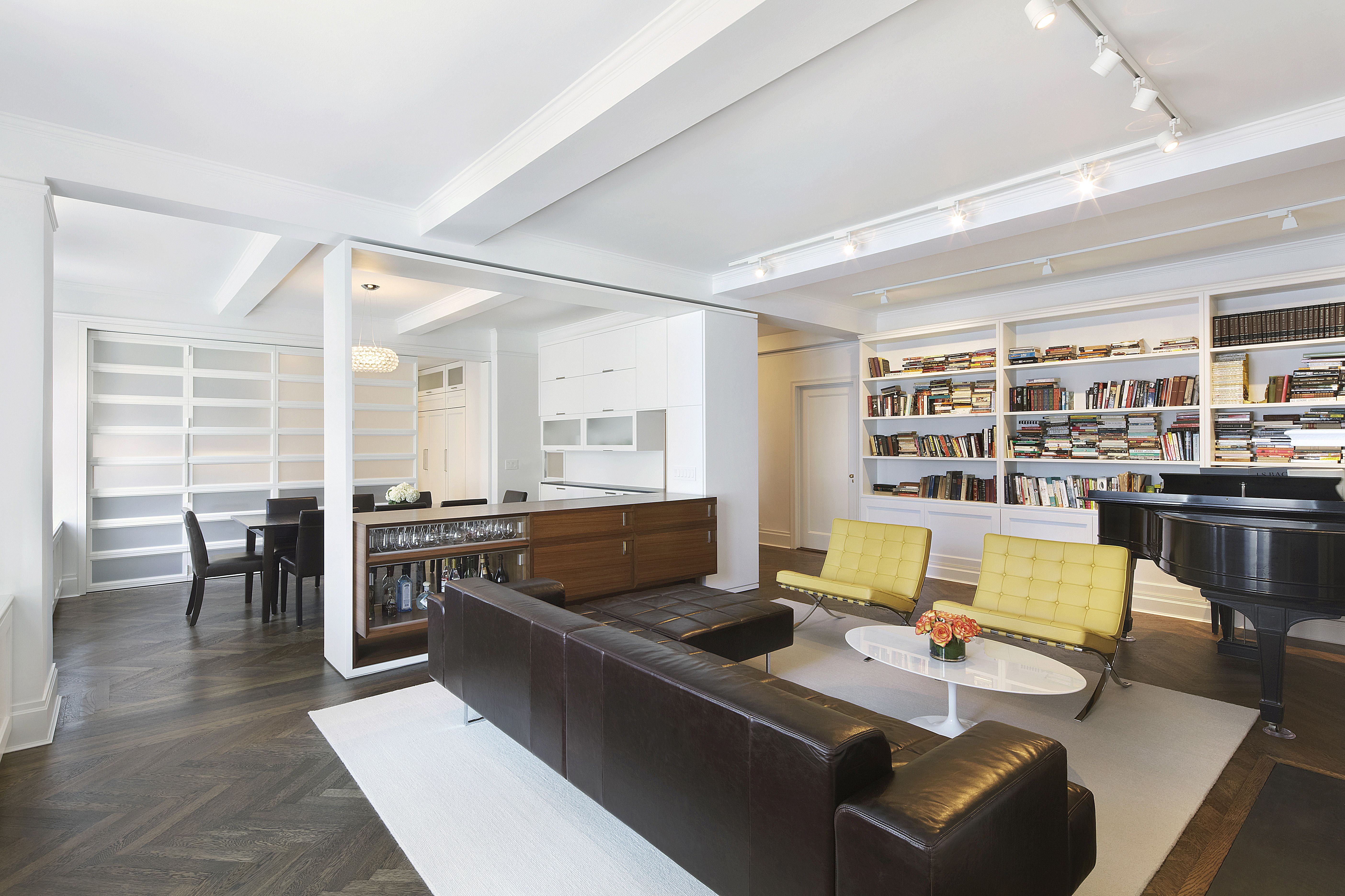 Apartment renovation dining room design kitchen design living spaces living room