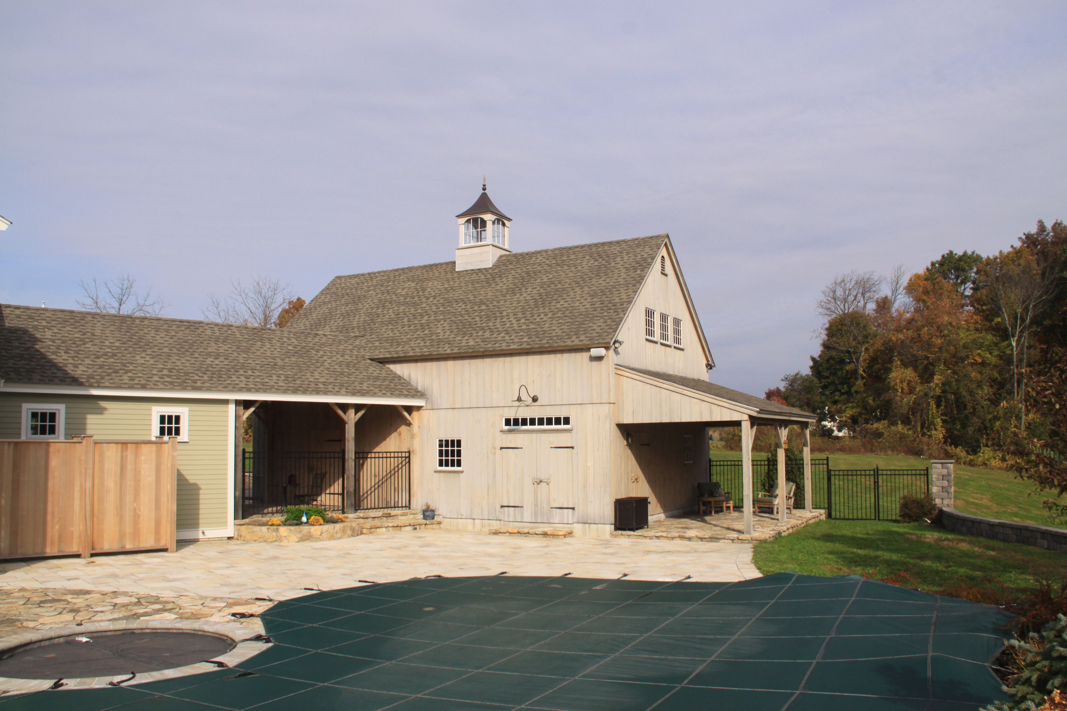 Vintage timber frame barn addition farmhouse exterior burlington - Our 24 X 36 1 1 2 Story Barn With 10 X 24 Enclosed Lean To Www Countrycarpenters Com Larger 1 1 2 Story Barns Pinterest Barn