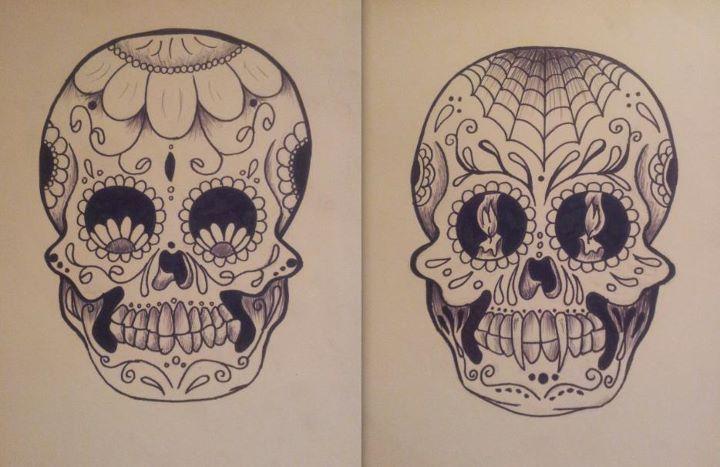d8d122034 sugar skull design   design inspiration   Evil skull tattoo, Sugar ...