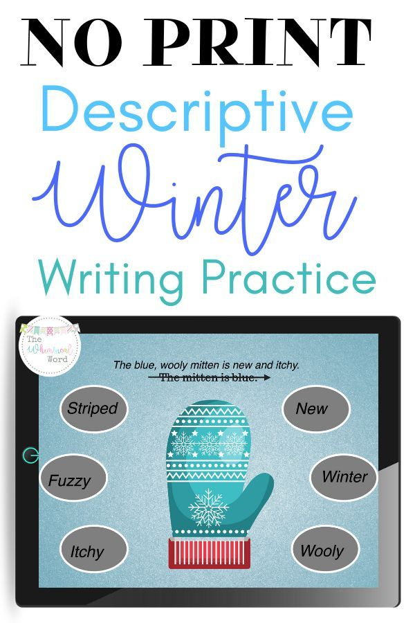 Using Adjectives To Describe Winter No Print Speech Therapy Use winter clothing items to help your students build better descriptive sentences in speech therapy No PRINT...