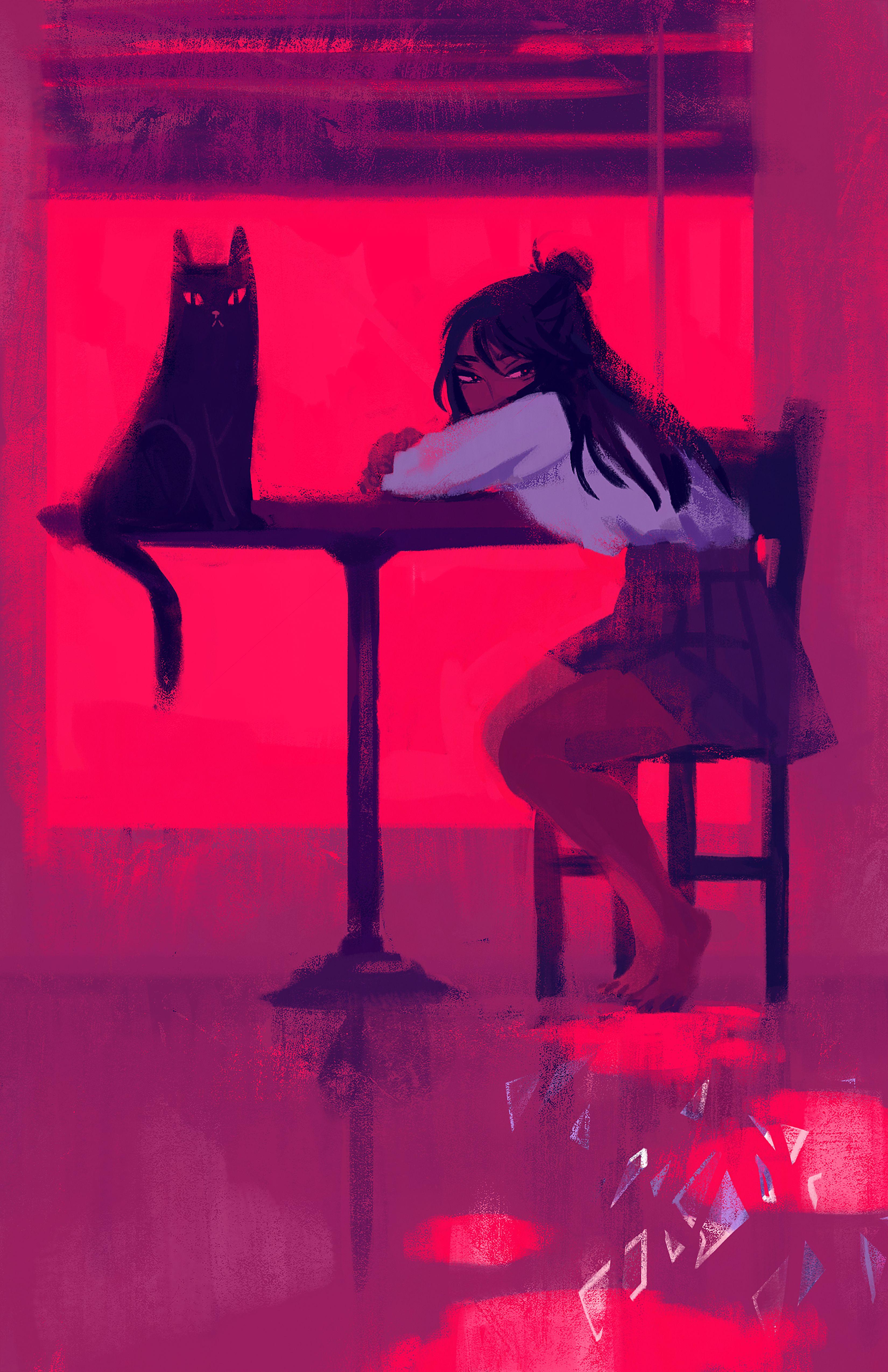 Chelsea Stingel Leave Me Alone Illustration, Anime, Art