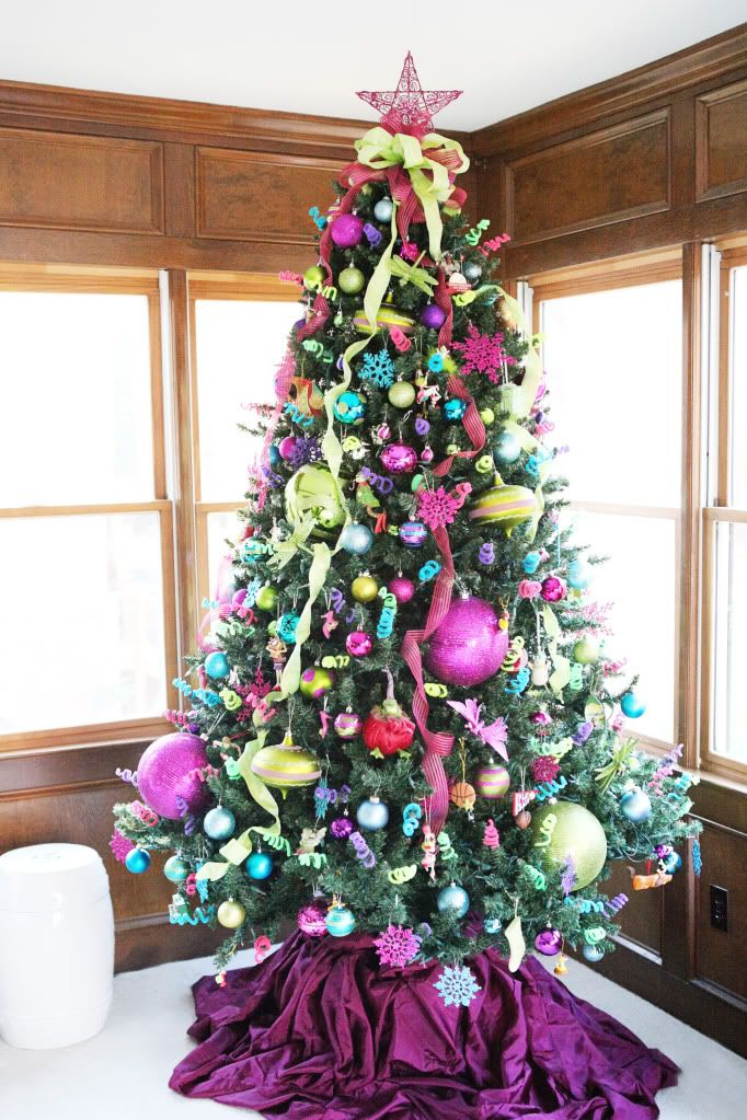 Ho Ho Home Purple Trees Limes And Turquoise
