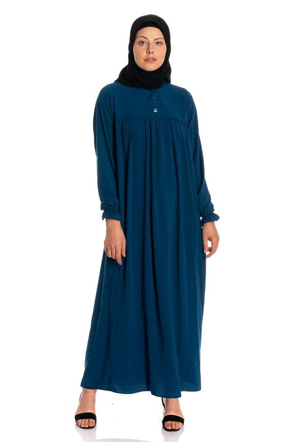 Duz Roba Buzgulu Manset Gipeli Elbise Modeli Ve Fiyati Kadin Kiyafetleri Elbise Modelleri Elbise