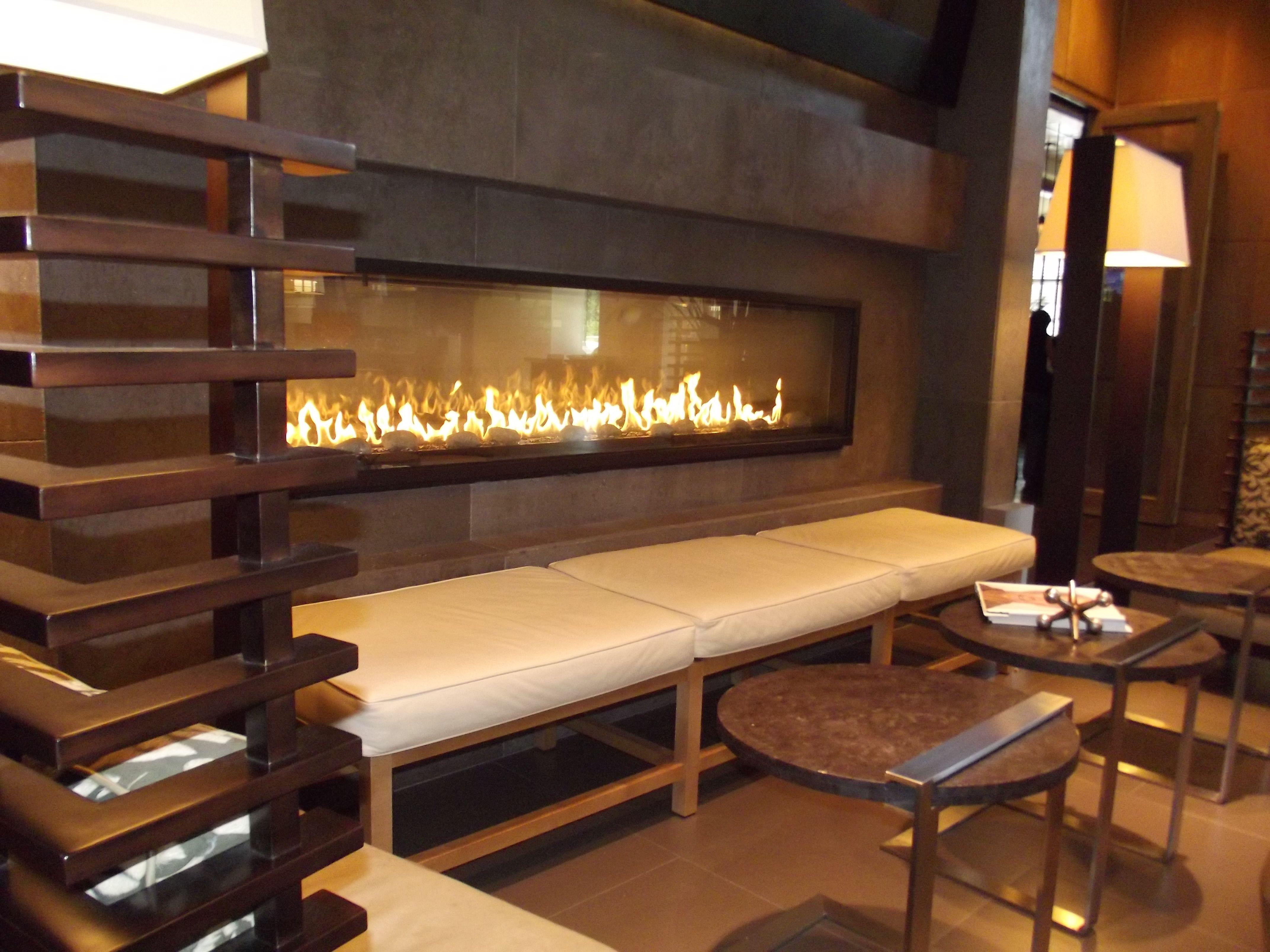 Modern Restaurant Fireplace - Google