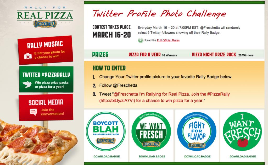Freschetta PizzaRally Profile Photo Challenge on http://www.5minutesformom.com